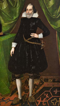 Francis Clifford 1559 - 1641 - Skipton Castle.  Click for larger image