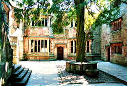 Skipton Castle - The Conduit Court and Lady Ann Clifford's Yew Tree
