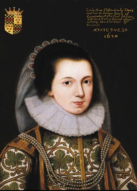 Lady Anne Clifford 1590 - 1676 - Skipton Castle. Click for larger image