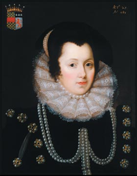 Lady Margaret Russell 1560 - 1616 - Skipton Castle. Click for larger image