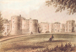 Skipton Castle in 1878 Click for larger image