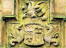 Skipton Castle - The arms of John Clifford complete with wyverns - half dragon, half sea serpent